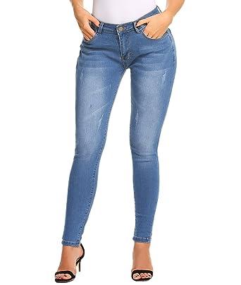 4819e88985 ZHENWEI Women's Skinny Jeans Stretchy Slim Fit Butt Lift Denim Pants ...