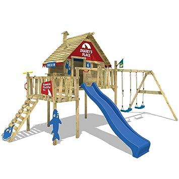 Brandneu WICKEY Stelzenhaus Smart Resort Spielturm Kletterturm mit Schaukel  GU47