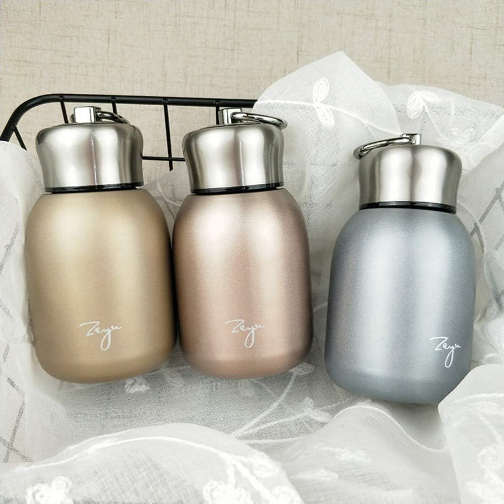 termo de acero inoxidable termo de viaje para uso en interiores y exteriores verde Minitermos de caf/é de 300 ml