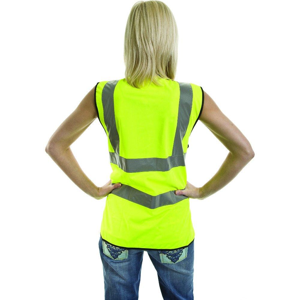 High Visibility Viz EN471 Mens Yellow Reflective Workwear Safety Vest Waistcoat OutdoorLook