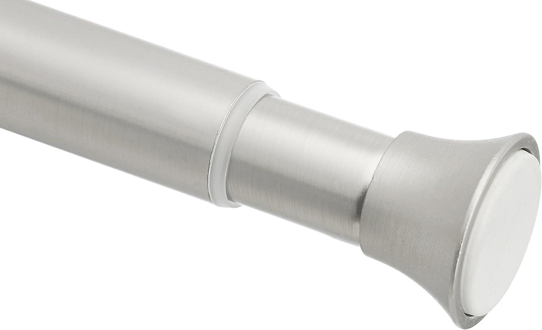 AmazonBasics - Barra de tensión para cortina de ducha o marco de puerta, 91-137 cm, Níquel