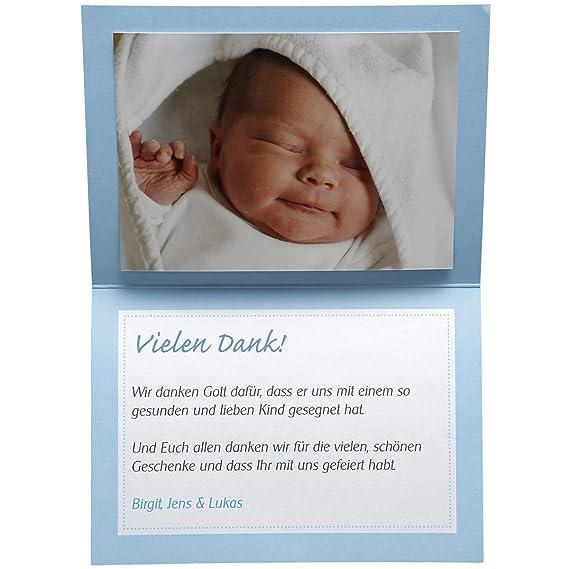 15 Einladungskarten Und 15 Dankeskarten Zur Taufe Taufkartenset Boaty Inkl Tischkarten Schleifenband Einfach Selbst Bedrucken