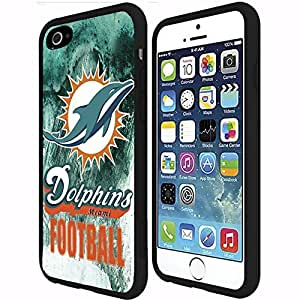 Miami Dolphins Football Sports Rubber Snap on Phone Case (iPhone 6 Plus)