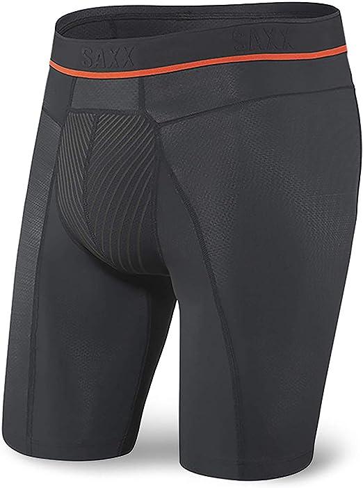 SAXX Men's Underwear – HYPERDRIVE Performance Men's Underwear – Longer Boxer Briefs with Built-In BallPark Pouch Support