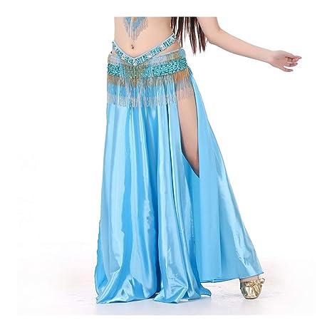 Falda de danza del vientre con falda cruzada de color cruzado ...