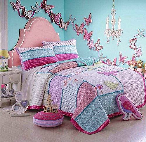 Quilts Set Birds Butterfly Comforter Set 2 Pieces Twin