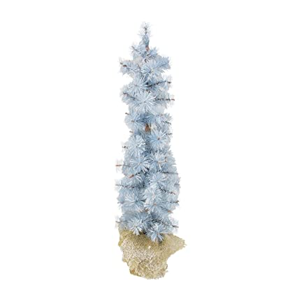 arett sales 2 winter light frosted blue pine artificial christmas tree with burlap base