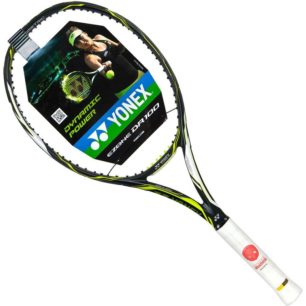 YONEX Ezone Dr 100 (300 G), color verde con Custom cuerdas ...