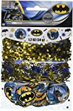 Amscan Confetti Metallic Circles Mix Party Decoration Batman Supplies , Multicolor, 12 Pieces