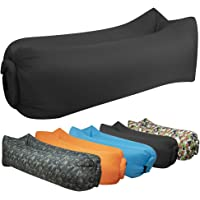 hybag Inflatable Air Hammock Lounge Chairs, Air Cushion Couch Lounger Lazy Bag Carry Bag Music Festival & Pool Parties