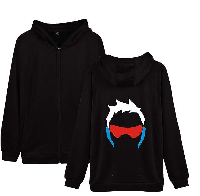 Overwatch Suelta Plus Size Abrigo con Capucha Sudaderas Sueter Hoodie Caída Invierno Jacket Coat Outwear Sudaderas con Capucha para Novio Y Novia: ...