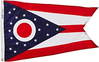 product image for Annin Flagmakers Model 144250 Ohio Flag Nylon SolarGuard NYL-Glo, 2x3 ft, 100% Made in USA to Official State Design Specifications
