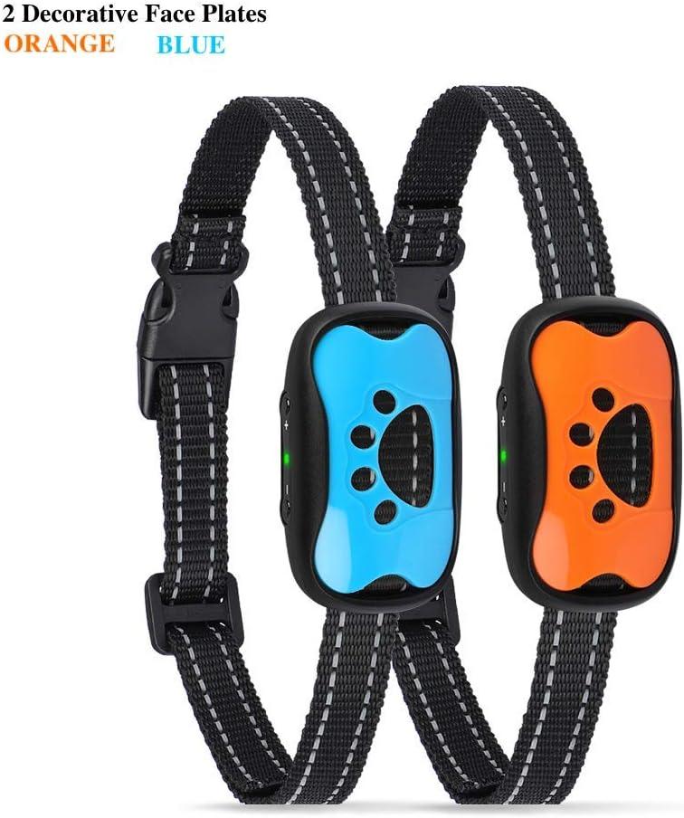 PETZILLA-681 Anti Bark Collar No Bark Collar Harmless and Humane Dog Collar No Shock Pet Training Collar Dog Bark Control Collar Anti Barking Device 7 Progressive//Adjustable Vibration Levels