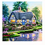 Embroid Home Decor,Woaills 5D Full Drilled Square Diamond Painting Cross Stitch (A)