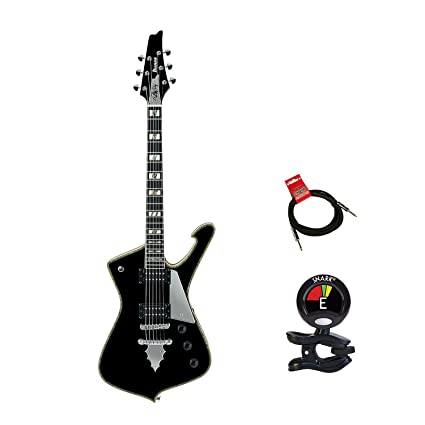 Ibanez PS Series PS120 Paul Stanley Signature 6 String Electric Guitar Packagee in Gloss Black Finish