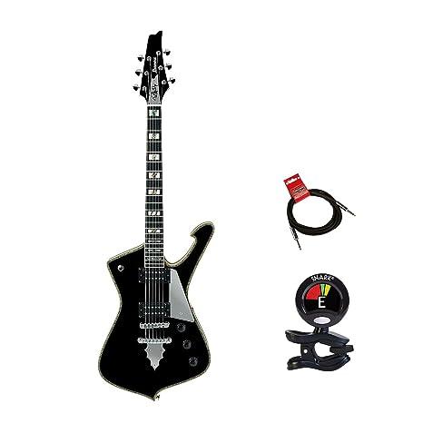 Ibanez PS serie PS120 Paul Stanley firma de 6 cuerdas Guitarra eléctrica packagee en acabado negro