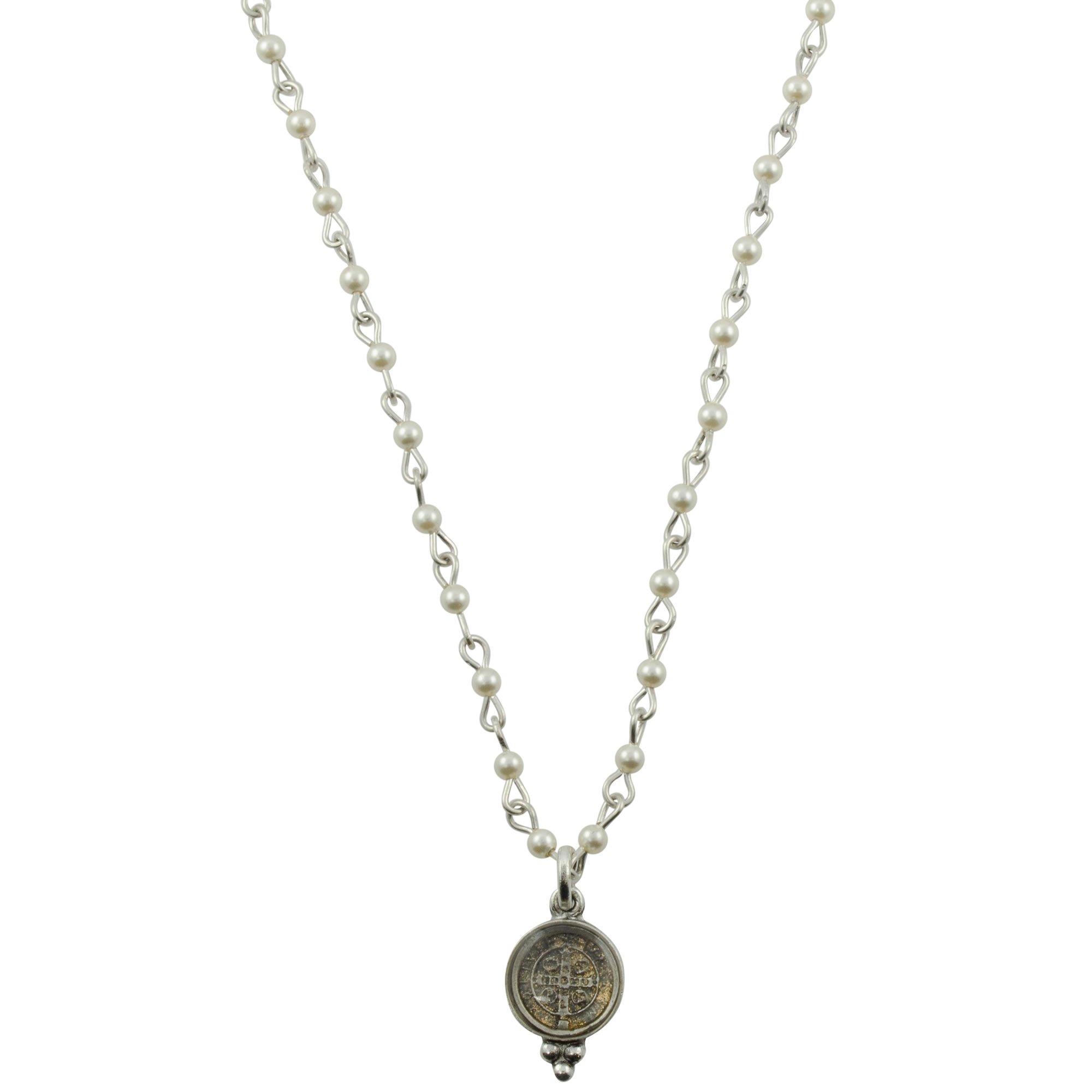 Piccolo Lucia Choker - Silver + Pearl - VSA - Virgins Saints Angels Jewelry