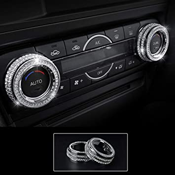 TopDall Steering Wheel Bling Crystal Shiny Diamond Accessory Interior Sticker compatible with Ford