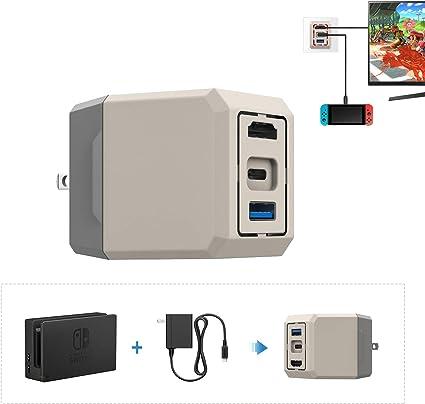 MoKo - Adaptador de CA y Base de TV para Nintendo Switch ...