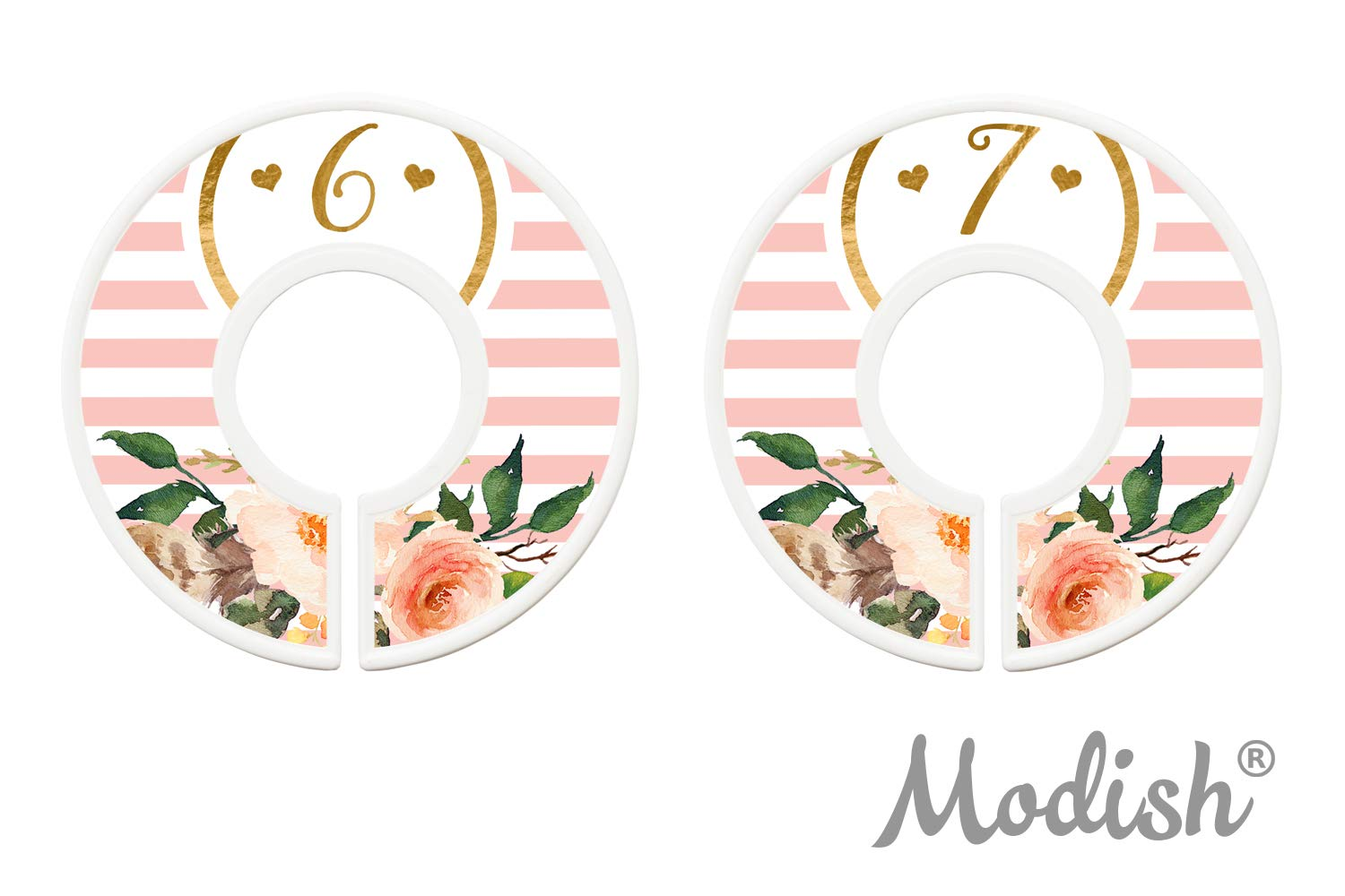 Closet Organizers Days Modish Labels Daily Clothes Organizers Days of Week Closet Dividers Work Week Clothes Organizer Girl Pink Flowers Stripes School Supplies