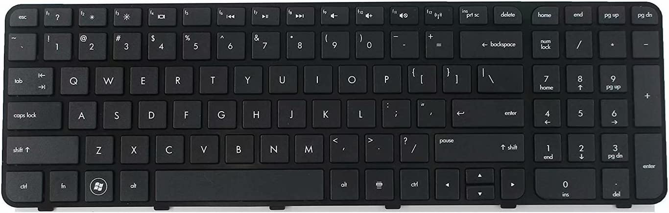 Laptop US Keyboard for HP Pavilion G6-2150tx G6-2202tx G6-2204ax G6-2204tx G6-2205ax G6-2208ca G6-2210ax G6-2210us G6-2211nr G6-2213nr with Frame