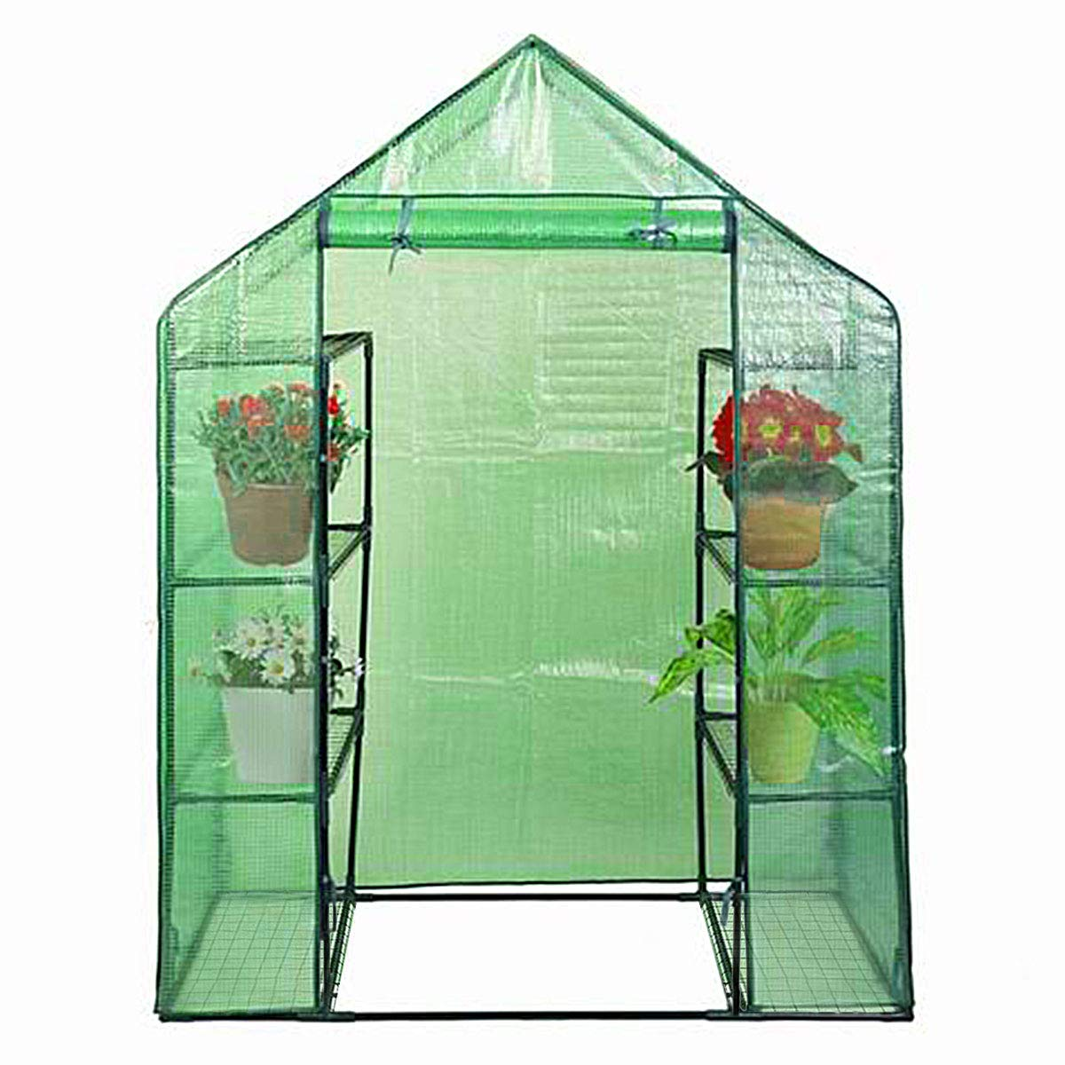 Giantex Mini Portable Walk-in Plant Greenhouse for Outdoors/Indoors 4 Tier 8 Shelves Garden Green House by Giantex (Image #1)