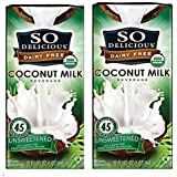 So Delicious Dairy Free - Organic Coconut Milk Beverage Organic Unsweetened, 32-ounce (Pack of 2)