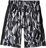 Under Armour Kids  Boy's Instinct Printed Shorts (Big Kids) Black/Black/Steel 1 Shorts