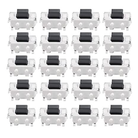 100 Pcs 5x2x3mm SPST Momentary Push Button SMD SMT Tactile Tact Switch