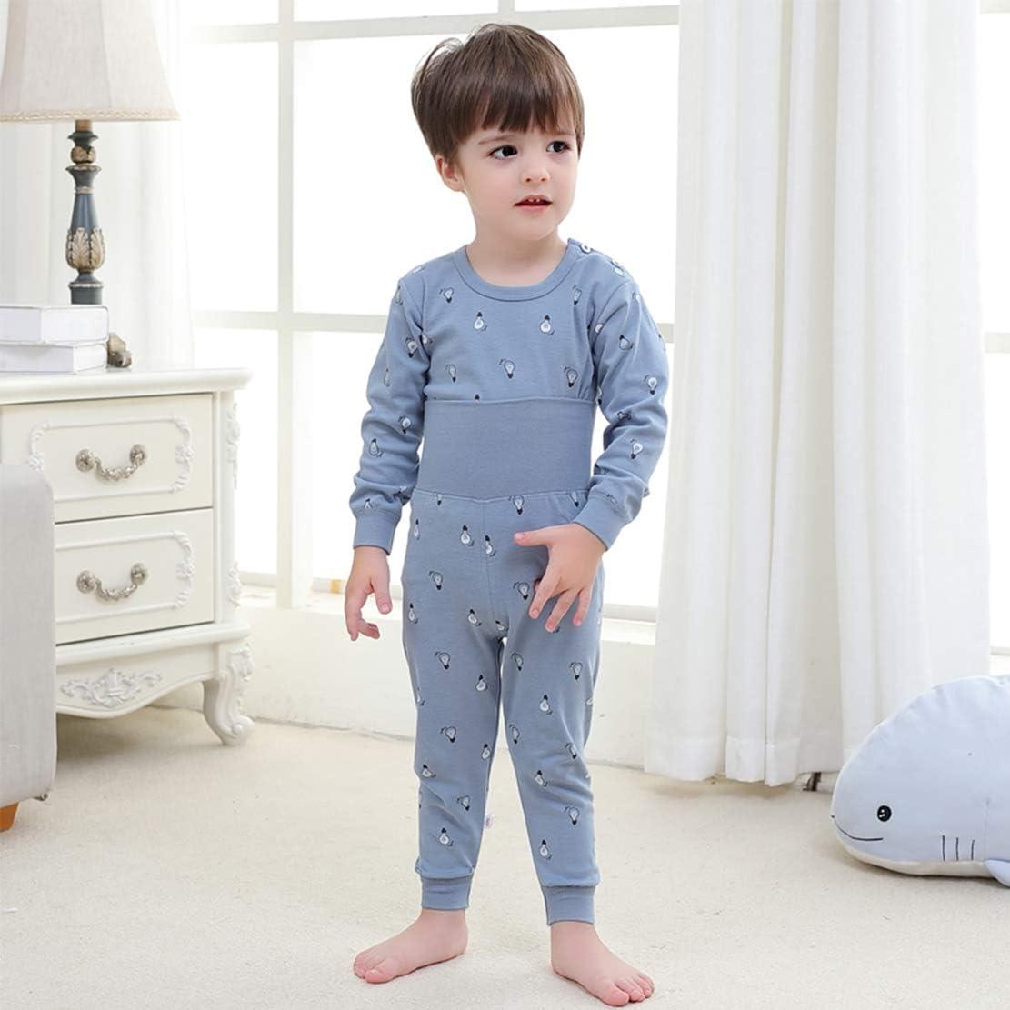 100/% Cotton Baby Boys Girls Pajamas Set Long Sleeve Sleepwear 6M-5Years
