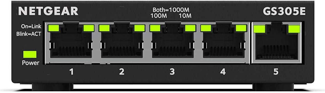 Netgear Gs305e 5 Port Gigabit Ethernet Smart Managed Elektronik