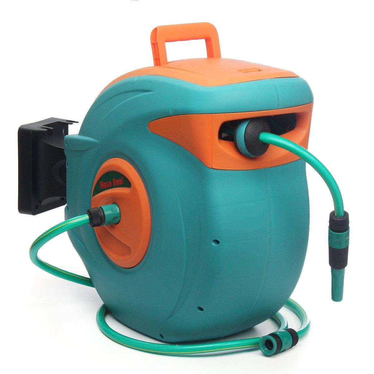 HITSAN XBW-05 30M Auto Rewind Reel Hose Garden Retractable Water Hose Reel Water Storage Spray Tool One Piece