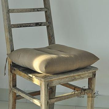 Cojín para silla de comedor, cojín de lino, cojines para sofá, C ...