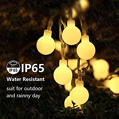 LED Christmas Lights Indoor 16ft 50 White Globe Battery Operated String Lights with Remote Wall Fairy String Lights for Bedroom Lighting Decor Outdoor Patio Garden Camping Twinkle Lights Decorations