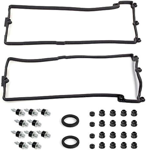 LEFT Valve Cover Gasket Set 11127513195 For BMW 545i 550i 645Ci 650i 745Li