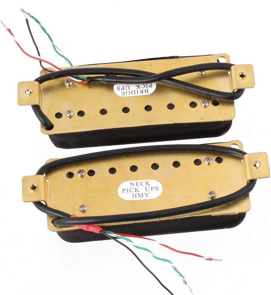 LYWS 2PCS Ceramic Magnet 8 String Guitar Humbucker Pickup Neck /& Bridge Pickups Black