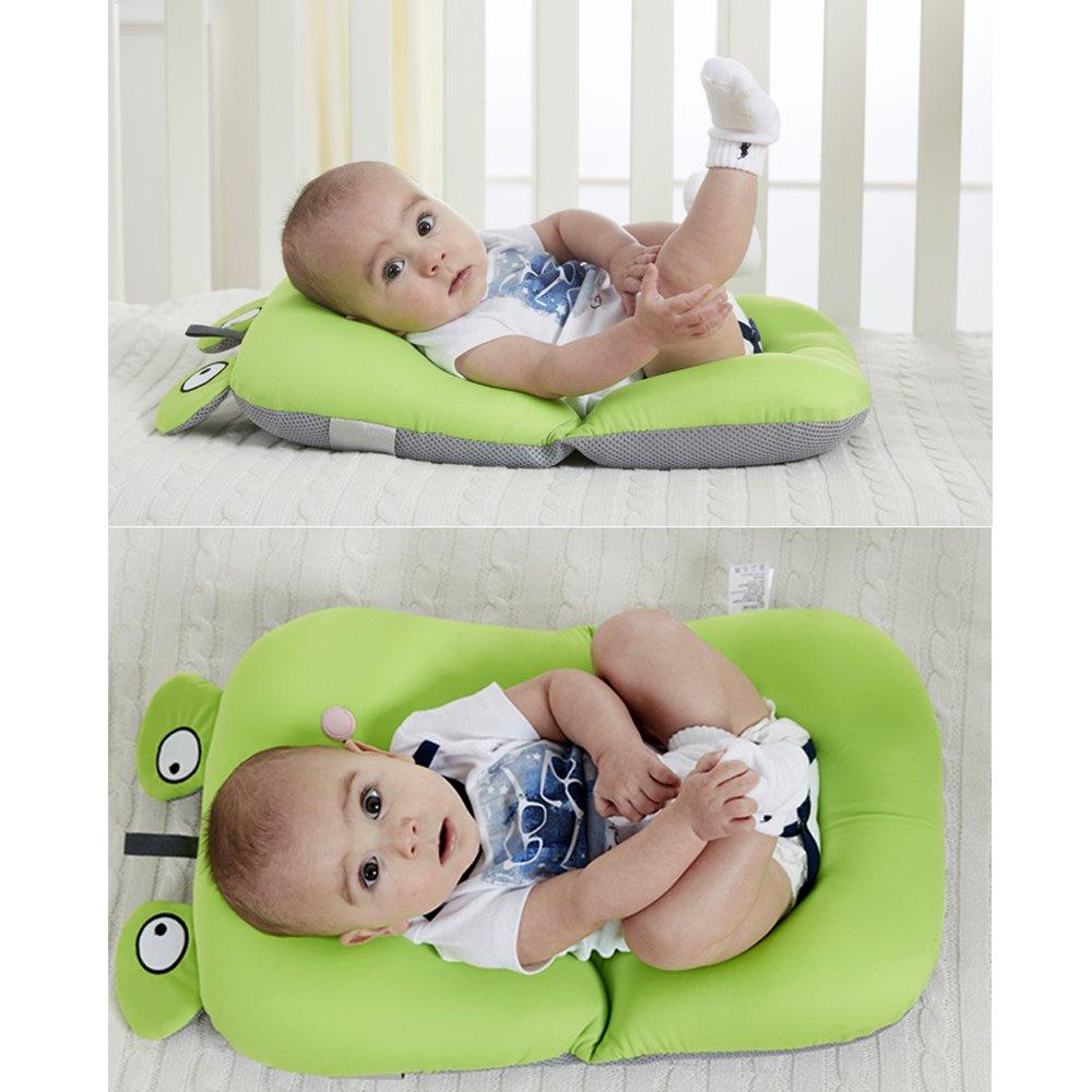Colchoneta flotador para bañera de bebé, antideslizante, suave, ideal para niños de 0 a 6 meses marrón Green - B: Amazon.es: Bebé