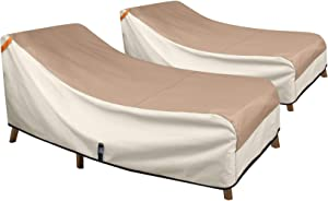Porch Shield Patio Chaise Lounge Chair Cover - Waterproof Outdoor Pool Chair Cover 2 Pack - 68W x 30D x 30H inch