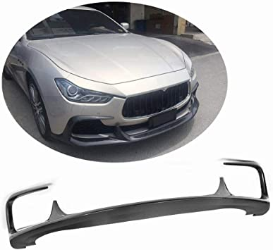 JC SPORTLINE Carbon Fiber Front Chin Lip Spoiler fits Maserati Ghibli 4-Door 2014-2017
