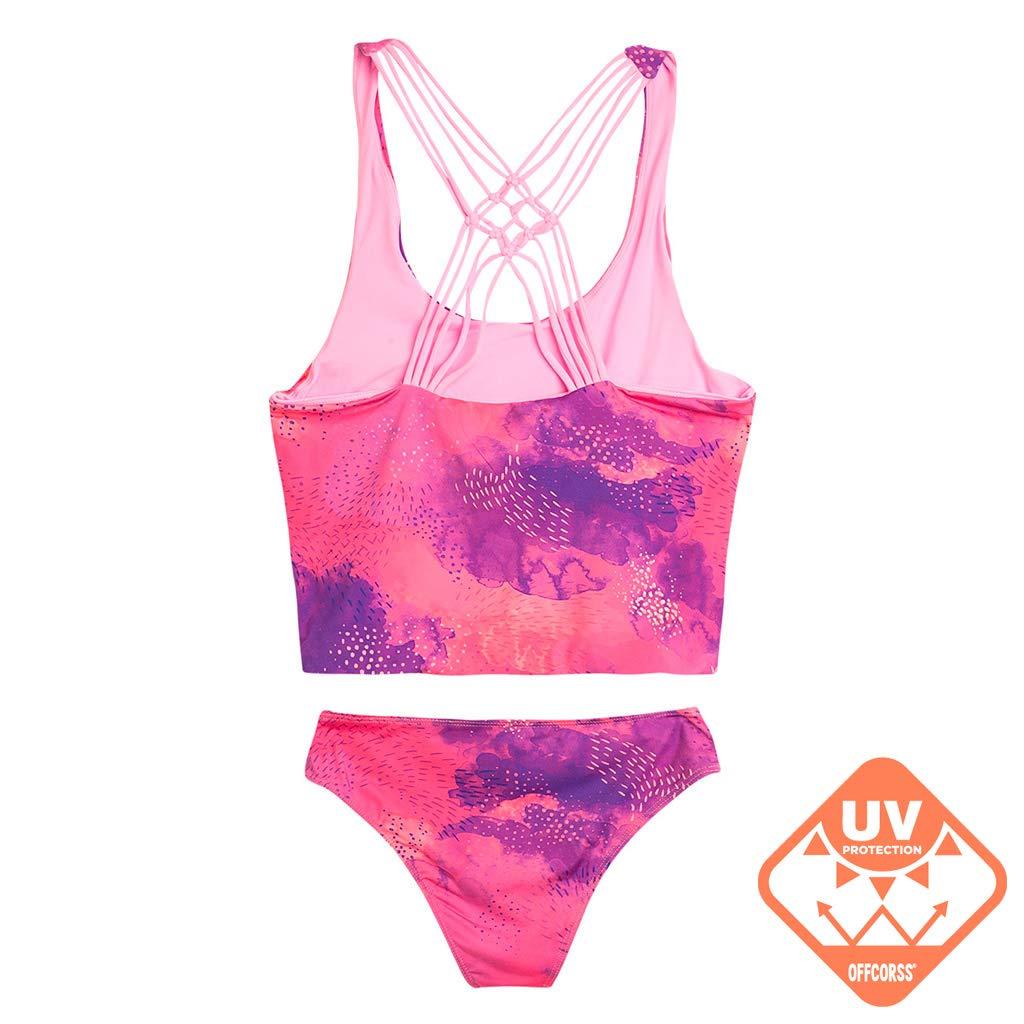 4249d65ee3 Amazon.com: OFFCORSS Big Girls Tankini Swimsuit Tops Set   Traje de Baño  para Niñas: Clothing