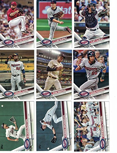 2012, 2013, 2014, 2015, 2016, 2017, 2018 Topps Baseball Card Team Sets (Complete Series 1 & 2 From All 7 Years) 150+ Minnesota Twins inc. Miguel Sano, Joe Mauer, plus (Acrylic Minnesota Twins Baseball)