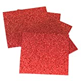 "Expressions Vinyl - Red - 9""x12"" 5-pack Siser Glitter Iron-on Heat Transfer Vinyl Sheets"