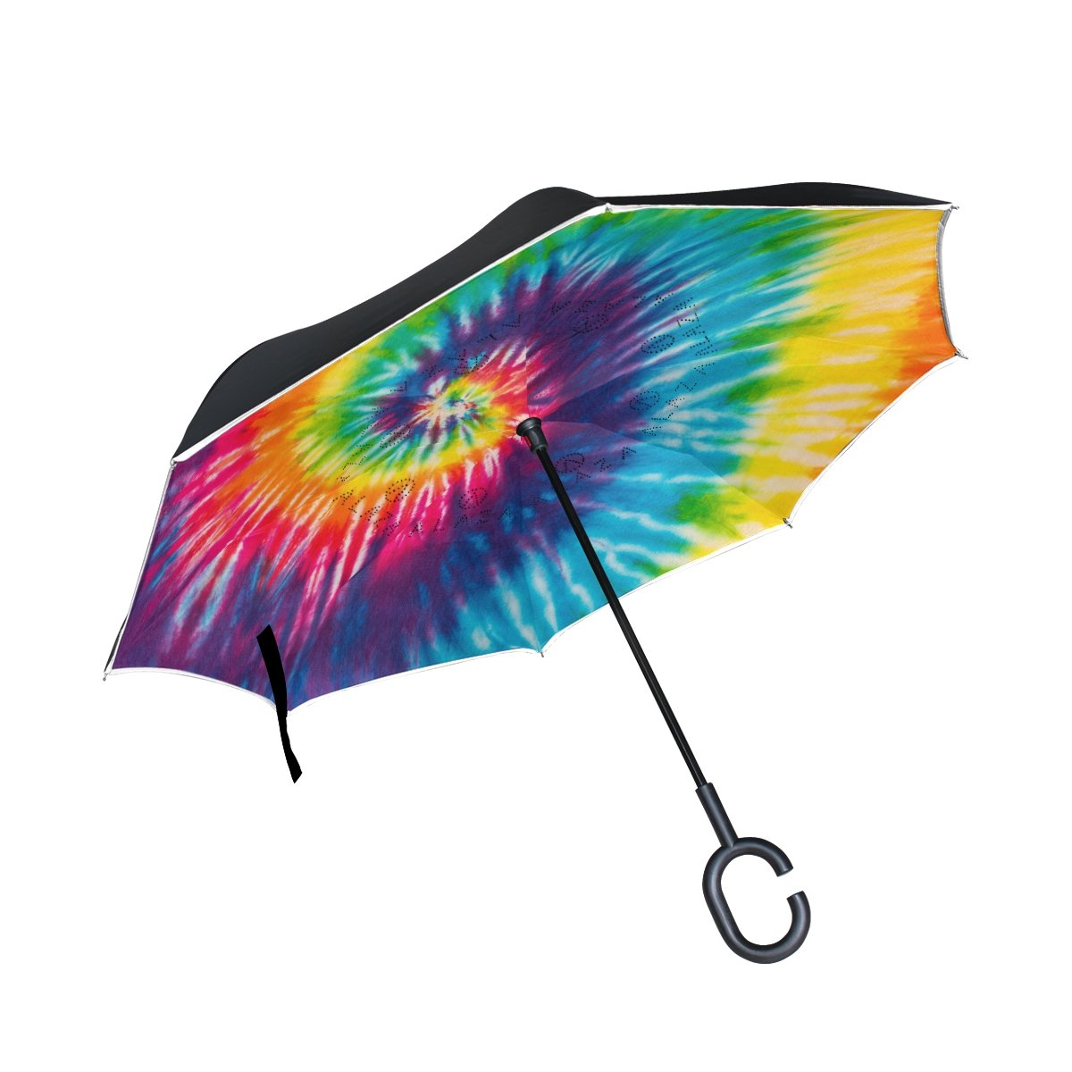 0298d80f8efa high-quality ALAZA Abstract Swirl Tie Dye Rainbow Inverted Umbrella ...