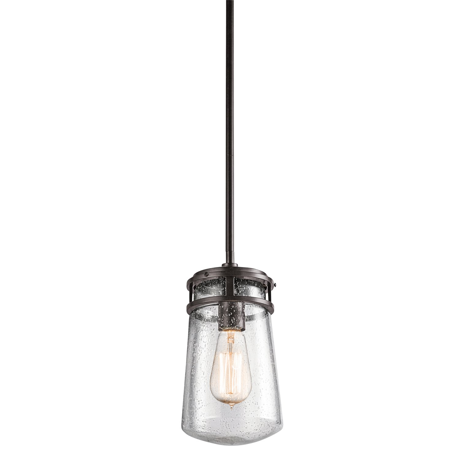 Outdoor Hanging Lighting Kichler 49446az one light outdoor pendant amazon workwithnaturefo