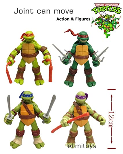 Turtle Action Figure Toys Set New Turtle Action Figure Doll Tv Character Model