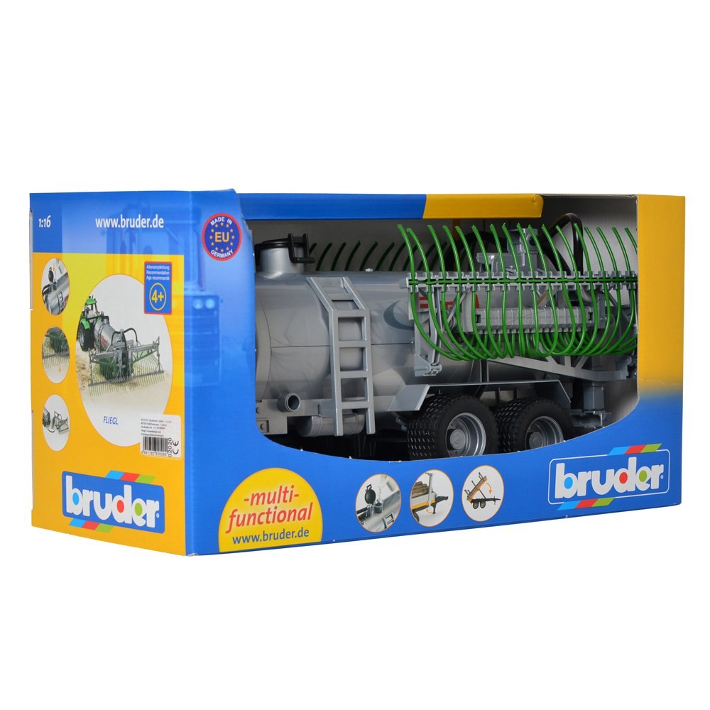 Remorque /épandeur avec tubes 02020 Grise BRUDER