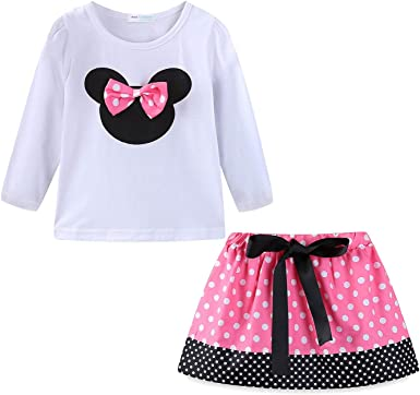 Mud Kingdom Little Girls Skirt Clothes Sets Lovely Floral Outfits