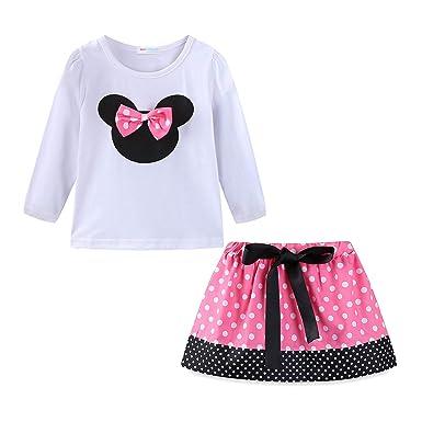 c4e7e4d78a17 Amazon.com  Mud Kingdom Little Girls Clothes Sets Cute Outfits Polka ...