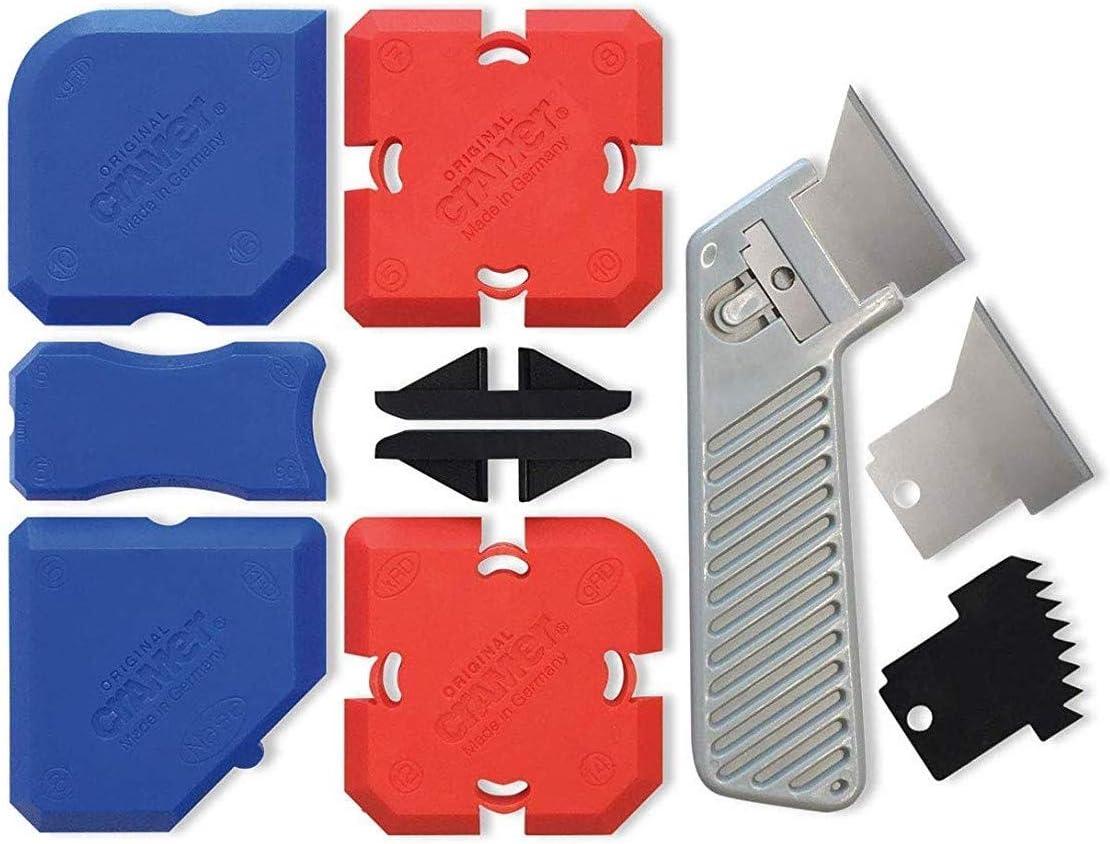 Cramer Fugi 7 - Juego de herramientas profesionales de silicona para perfilar juntas de silicona en cocina y baño, instrucciones en inglés