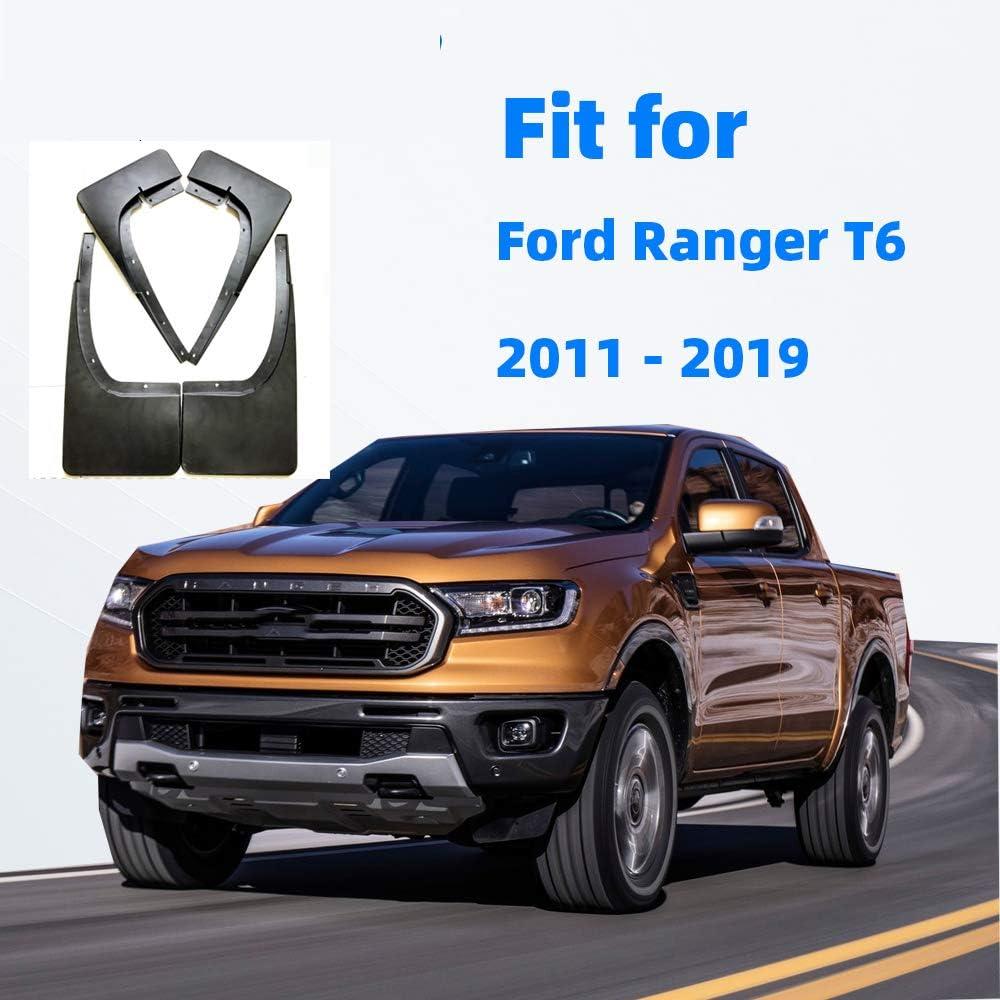 f/ür Ford Ranger T6 2011-2019 Kotfl/ügel Schmutzf/änger Fender 2012 2013 2014 2015 2016 2017 2018 unknow Auto Splash Guards Schmutzf/änger